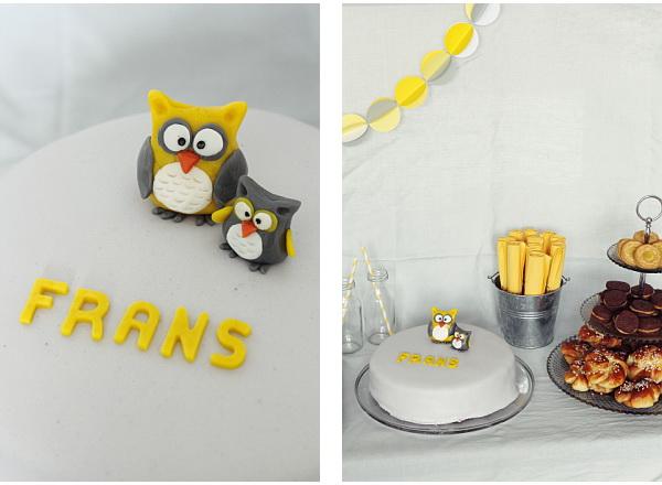 dessertbord gult grått ugglor2