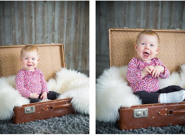 Elvira 1 år barnfotografering borlänge 2