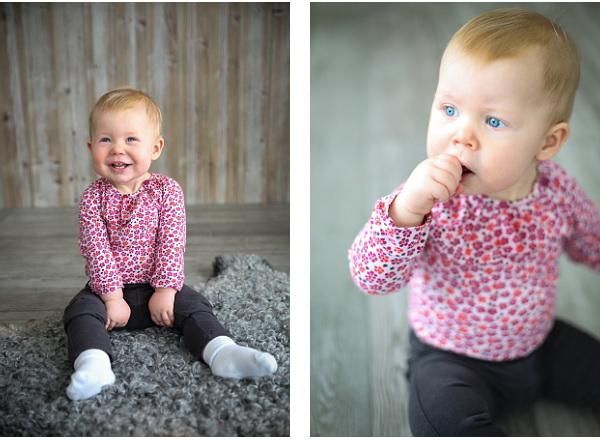 Elvira 1 år barnfotografering borlänge